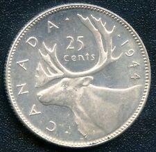 1944 Canada 25 Cent Silver Coin (5.83 grams .800 Silver)