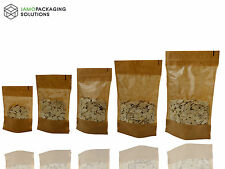 DISPLAY BAGS KRAFT PAPER WINDOW STAND UP PLASTIC BAG POUCH