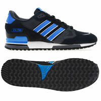 adidas ORIGINALS MENS ZX 750 UK 7 8 9 10 11 12 BLACK BLUE TRAINER SHOES RUNNING