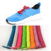 Curly Elastic No Tie Single Colour Shoelaces Shoe Laces Convenient Easy Hot