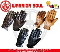 NEW CYCLING DRIVING MOTORCYCLE BLACK TAN BROWN PREMIUM COWHIDE LEATHER GLOVES