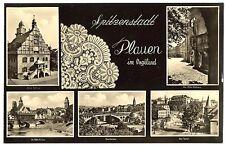 alte Postkarte Spitzenstadt Plauen im Vogtland