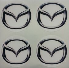 4x 45 mm fits MAZDA wheel STICKERS center badge centre trim cap hub alloy whi