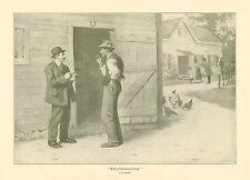 A.B. Frost, Rural Politics, Electioneering, Vintage, 1914 Antique, Art Prints,