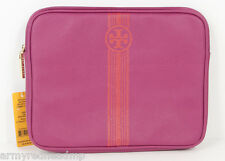 Tory Burch Roslyn Orange Pink Stripe Logo Tablet Ipad Case Sleeve NWT