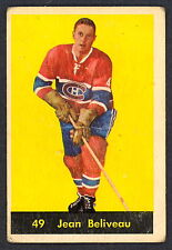 1960 61 PARKHURST HOCKEY  49 JEAN BELIVEAU VG MONTREAL CANADIENS FREE SHIP To US