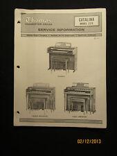 Thomas Transistor Catalina Organ 225 Service Info Manual Schematics Parts List