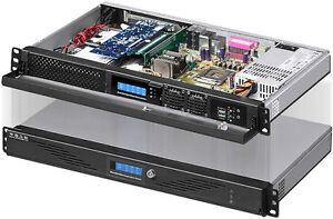 """1U LCD ITX(Lock Door)(5.25""""/3.5""""/2x2.5"""" HD)(Rackmount Chassis)(D:9.84"""" Case) NEW"""