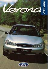 Ford Mondeo Verona Limited Edition 1998 UK Market Sales Brochure 1.8 & TD
