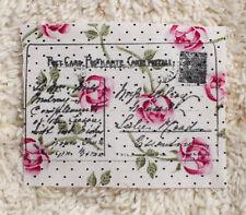Fabric Sample---8 cm x Wide x 6 cm High--Shabby Chic-----Cotton----Raw edge