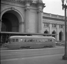 ORIGINAL 1948 CAPITAL TRANSIT DCT TROLLEY STREETCAR NEGATIVE #1386 WASHINGTON DC