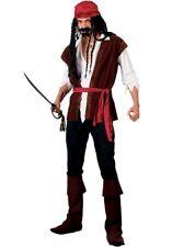 Adult Deluxe CARIBBEAN PIRATE Captain Jack Sparrow Men Stag Fancy Dress Costume