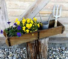 Antike Alte Ziegelstein-Form Backsteinform Holz Box Ablage Blumentopf Landhaus