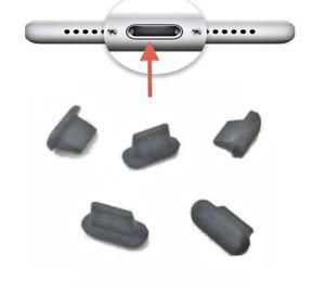 5stk Ladeanschluß Staub Schutz Stöpsel Stecker Silikon für iPhone 11
