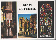 Yorkshire Postcard - Views of Ripon Cathedral      LC4279