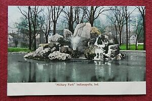 """c1901 """"Military Park"""" DOWNTOWN Indianapolis IN Indiana Postcard NICE"""