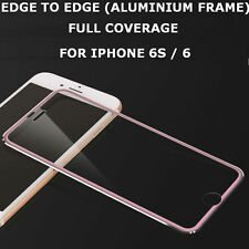 Tempered Glass Screen Protector Aluminium Edge to Edge Pink for Apple iPhone 7