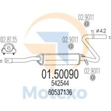 MTS 01.50090 Exhaust ALFA ROMEO 33 1.4 S, Quad.Oro 88bhp 04/83 - 12/89