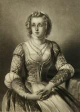 M.LÄMMEL(19.Jh), Halbporträt im Sitzen der Maria von Oranien-Nassau, Stahlstich