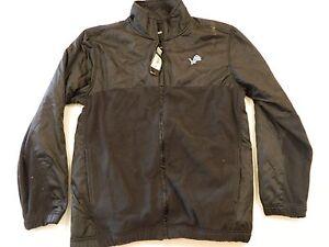 M25 FLAWED Reebok Detroit Lions Zip Up Track Fleece Jacket Jersey Men's Large L