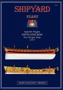 Ships' Plans for Spanish Frigate Santa Leocadia.