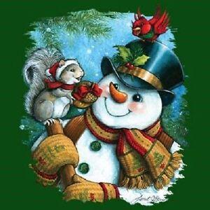 Snowman & Squirrel Winter  Sweatshirt /Longsleeved Tshirt    Sizes/Colors