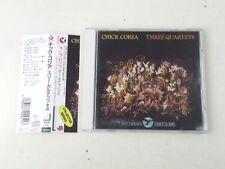 CHICK COREA -THREE QUARTETS - CD JAPAN 1992 GRP RECORDS W/OBI - NM/NM-
