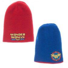 Capuchón Wonder Mujer Rojo/Azul Reversible Gorro Invierno Hat DC Historietas