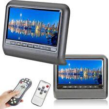 COPPIA 9 POLLICI LETTORE DVD USB AV AUTO POGGIATESTA MONITOR UNIVERSALE  GAME