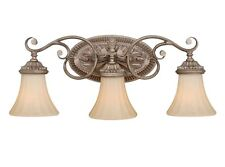 3 Light Vaxcel Avenant French Bronze Bathroom Vanity Lighting Fixture Sale W0156