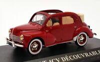 Altaya 1/43 Scale AL24221T - 1952 Renault 4CV Decouvrable - Burgundy