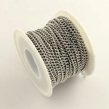 CATENA Cordolo In Acciaio Inox 10m/Roll 4x3x1 mm in acciaio INOX grado 304