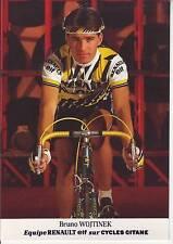 CYCLISME carte cycliste BRUNO WOJTINEK équipe RENAULT ELF 1985