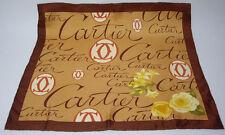 Cartier Seidentuch / sciarpa di seta / Scarf Carrè 49cm x 49 cm braun