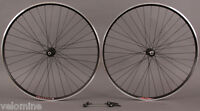 Velocity A23 Black Rims Shimano 105 7000 32h Hubs Wheelset Road & CX Bike Wheels