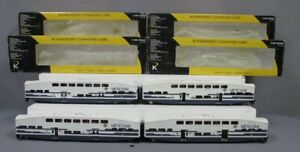 K-Line K4636C Metrolink 18 Bombardier Commuter Car 4-Pack/Box