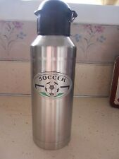 Soccer Ball Thermos Stainless Steel And Pewter Emblem  Brand New