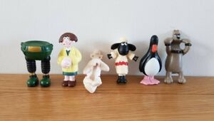 KELLOGG'S 6 x Wallace & Gromit Toy Figures 1989 Close Shave and Wrong Trousers