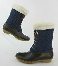 *NEW!* Sperry Top-Sider Saltwater Quilted Duck Boots Navy Girls 3 Womens 5