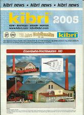 Katalog Kibri Neuheiten 2005 Modellbausätze Gebäude + Zubehör in HO 1:87