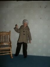 Porcelain Grandpa Doll - Doll House Miniature