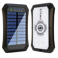 Solar Power Bank Portable Solar Charger 15,000mAH Qi Wireless Charger 3 USB port