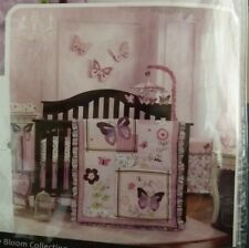 Lambs & Ivy Butterfly Bloom 6-Piece Crib Bedding Set Purple NEW FREE SHIPPING