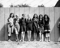 8x10 Print Bathing Beach Women 1920 #01689u