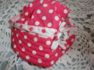 Coral DOT Dog Hat Cap cat new pet puppy S/ M accessory Smoochie Pooch