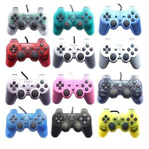 Original Official Sony Dual Shock 2 PS2 Wired Controller Pad Multiple Colours