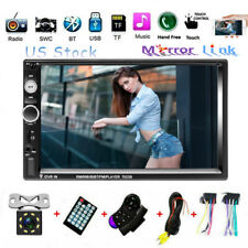 "2DIN 7"" Bluetooth Car Radio Stereo + 8 LED Camera MP5 FM Player Touch Screen UPS"