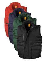 Result Lance BLACK DARK BLUE RED GREEN Workguard Padded Gilet Bodywarmer Vest
