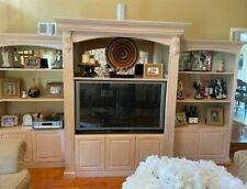 Custom, Hand carved, 3 piece wall unit with crown moulding, rope, & corbels