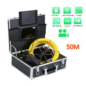 Rohrkamera Kanalkamera Inspektion LCD 7 ZOLL Waserdicht 50M Endoskop 1200TVL DE